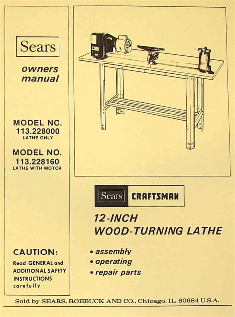 craftsman   wood lathe owners parts