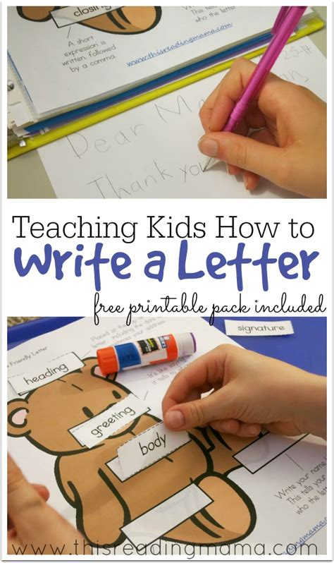 teaching how to write a letter free printable 529 | Teaching Kids How to Write a Letter