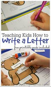 Teaching kids how to write a letter free printable for Teaching kids to write letters