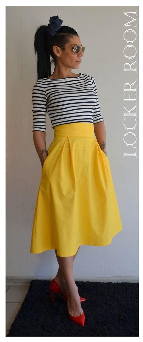 Yellow Skirt Outfit Ideas Pinterest