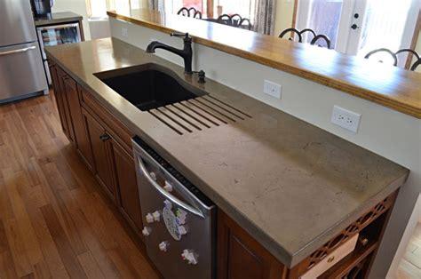 concrete countertop sink molds a primer on concrete countertops precast vs pour in place