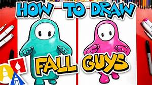 how to draw fall guys ultimate knockout for hub