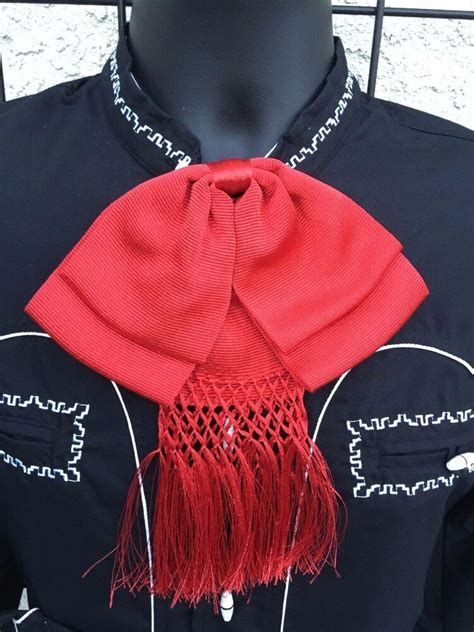 Mexican Bow Tie Charro and Mariachi Red Adult From Mexico