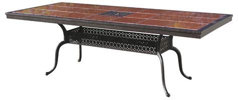 antique bronze table l 201077 l darlee 41 x 91 rectangular granite top dining