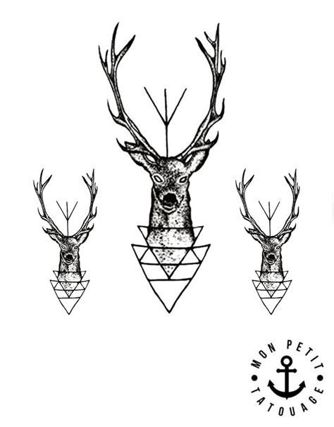tatouage temporaire cerf  bois de cerf jagermeister