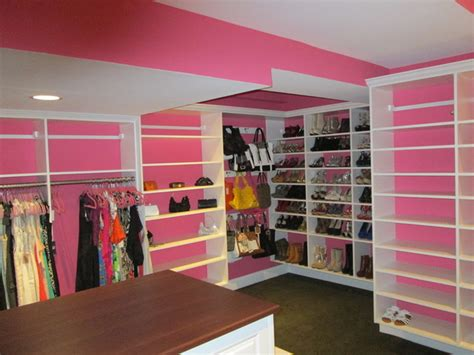 pink walk in wardrobe pink and white walk in traditional closet bridgeport by liberty closet and garage company