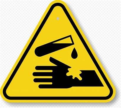 Hazard Chemical Symbol Corrosive Sign Caution Warning