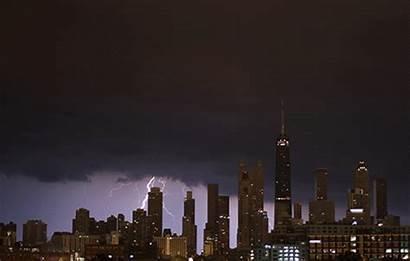 Chicago Storm Night Gifs Lightning Patio Last