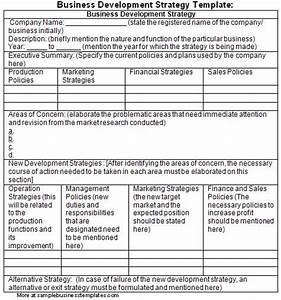 business development strategy template sample business With developing a business strategy template