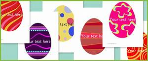 Early Learning Resources Editable Easter Egg Pictures