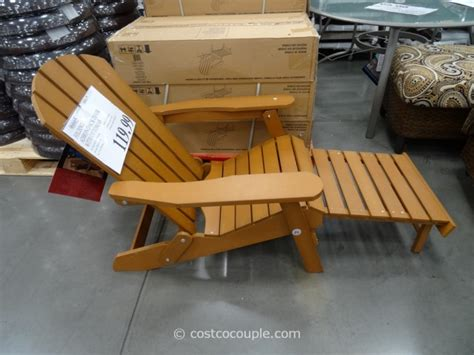 chaise adirondack plastique recyclé costco adirondack chair with ottoman