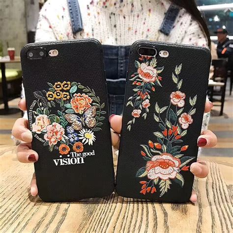 for vivo v7 plus v5s vintage flowers rock embroidery leather texture tpu soft for vivo