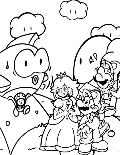 nintendo coloring pages coloring pages