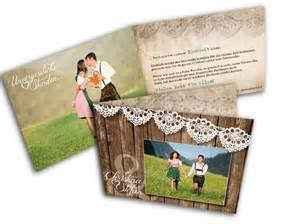 foto accessoires hochzeit 4 dankeskarten mit foto hochzeit trachtig spitze holz modern heiraten mit braut de