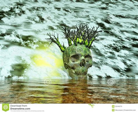 Skull Surreal Landscape Royalty Free Stock Photo Image