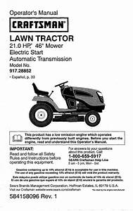 Craftsman 917288525 User Manual Tractor Manuals And Guides