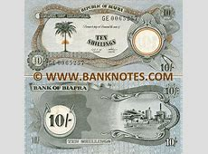 Biafra 10 Shillings 19681969 Biafran Currency Bank