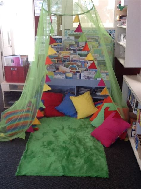 reading corner mosquito net  added bunting shaggy