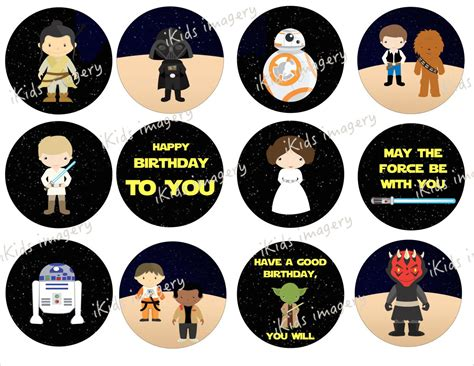 Star Wars Printable Cupcake Toppers Pictures To Pin On