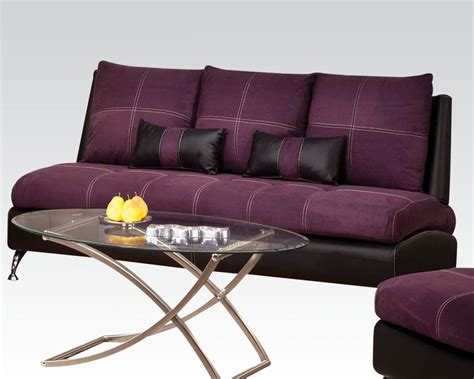 Purple Contemporary Sofa by Contemporary Sofa Purple By Acme Furniture Ac51750
