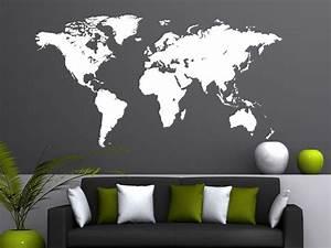 Wandtattoo Weltkarte Uhr : die 25 besten ideen zu wandtattoo weltkarte auf pinterest b rowandtattoo art deco zimmer und ~ Sanjose-hotels-ca.com Haus und Dekorationen