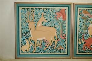 importantes peintures a la detrempe 145x145 x2 tableaux With peinture a la detrempe