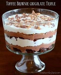 Recipe: Toffee Brownie Chocolate Trifle