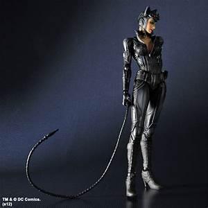 Play Arts Kai Arkham City Catwoman And Batman - The Toyark ...