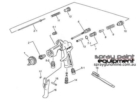 anest iwata lph hvlp parts spray gun