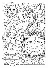 Moon Coloring Pages Printable Fantasy sketch template