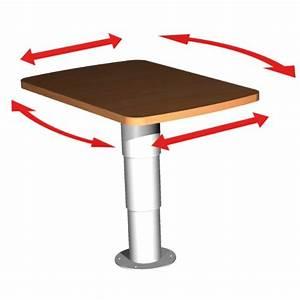 Pied De Table Telescopique : pied de table t lescopique et pivotant camping car ou bateau ~ Dailycaller-alerts.com Idées de Décoration