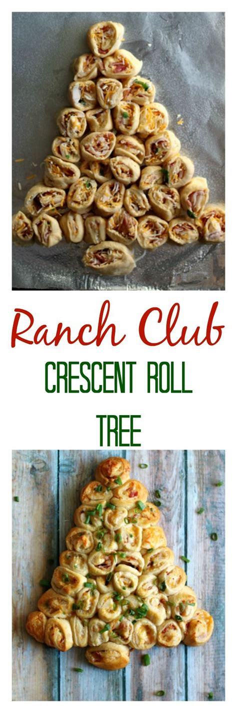 pillsbury cresent roll christmas tree appetizer ranch club crescent roll tree is the recipe made with pillsbury crescents ad