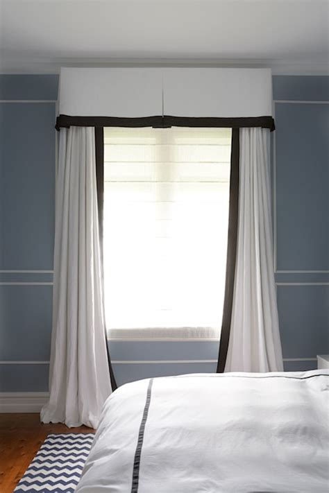black  white curtains transitional bedroom diane