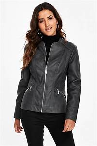 Petite Grey Faux Leather Jacket - Sale- Wallis