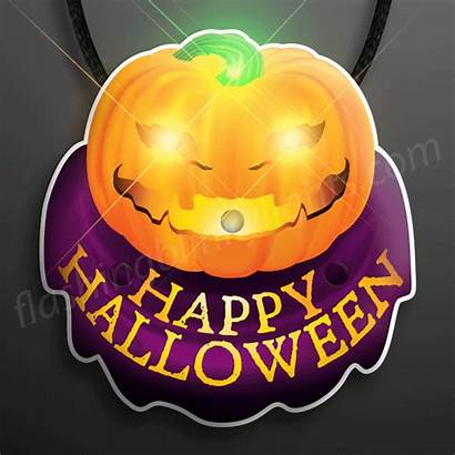 Necklace Lantern Jack Blinky Pumpkin Led Halloween