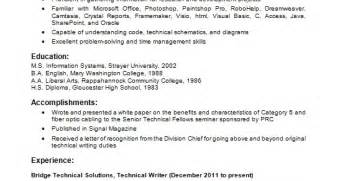 Technical Resume Creator technical writer resume creator in word format free