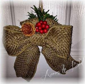 Burlap, Bow, Ornament