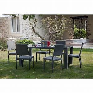 salon de jardin table faro l180 l100 cm 4 chaises With idee amenagement jardin devant maison 18 le salon de jardin en resine tressee en 52 photos