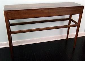 Custom Danish Mid Century Modern Style Console Table With