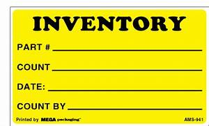 3quot x 5quot floodcoat pantone yellow black print inventory With inventory control stickers