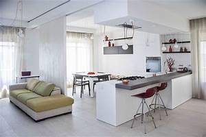 cuisine ouverte sur salon une solution pour tous les espaces With idee deco cuisine avec cuisine salle a manger