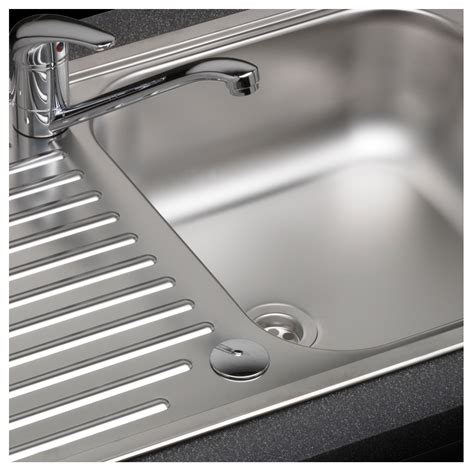 single bowl kitchen sink with drainer reginox duchess single bowl sink and drainer sinks taps 9306