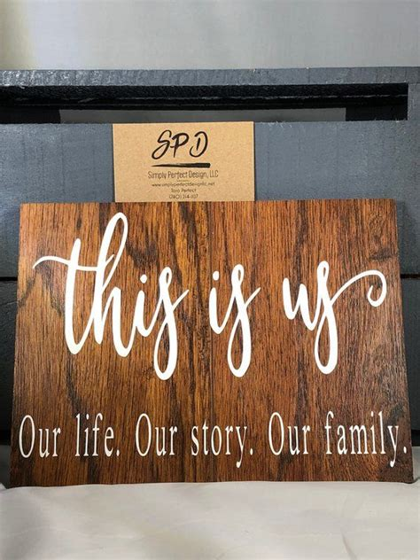 Fresh makeover for a designer's own kitchen and master bath. This Is Us - Our Life. Our Story. Our Family - Rustic Wood Sign | this is us wood sign | this is ...