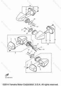 Yamaha Motorcycle 2000 Oem Parts Diagram For Flasher Light