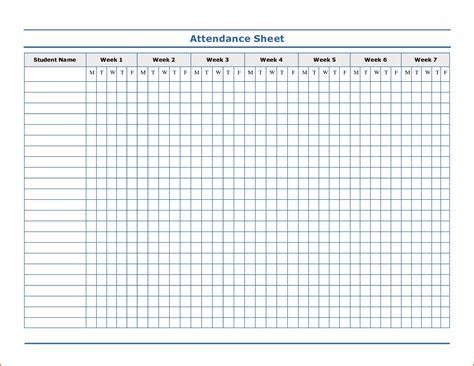 attendance template 8 attendance sheet template authorizationletters org