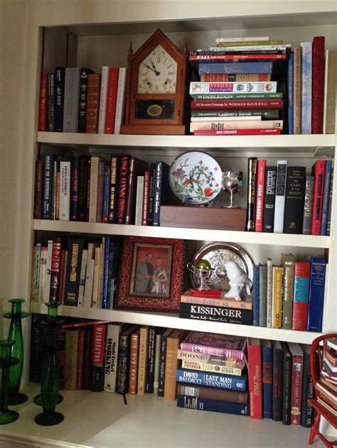 decorating a book shelf for the home pinterest