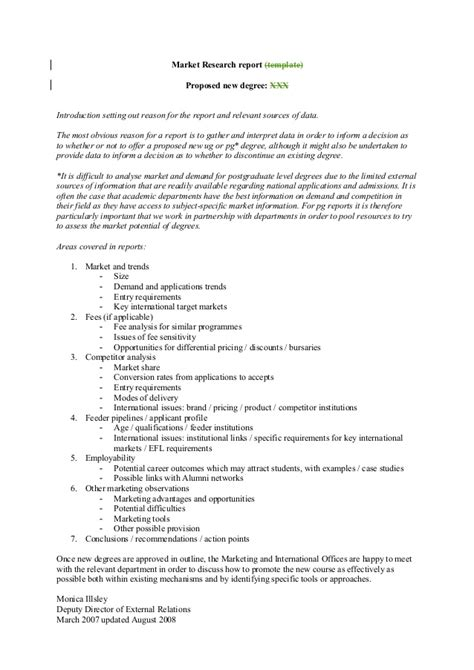 Market Research Template Doc by Market Research Template