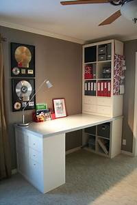 Ikea, Butcher, Block, Floating, Shelves, This, Is, My, Desk, Project, It, Was, Put, Together, With, Expedit