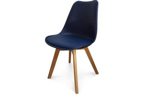 Chaise Design Style Scandinave Bleu Marine Sweden Design
