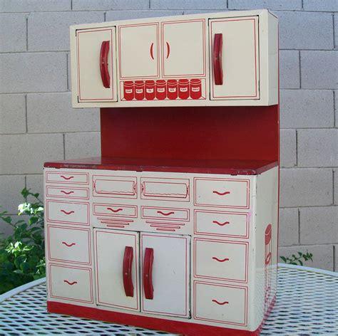 Metal Cupboards For Sale by Vintage Wolverine Metal Kitchen Play Cupboards